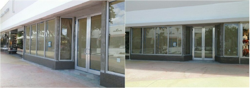 Commercial storefront door and glass replacement in miami for Commercial windows